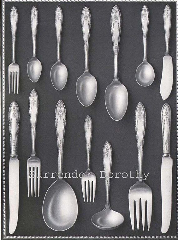 International Silver Company Silverware 1920s Vintage Halftone