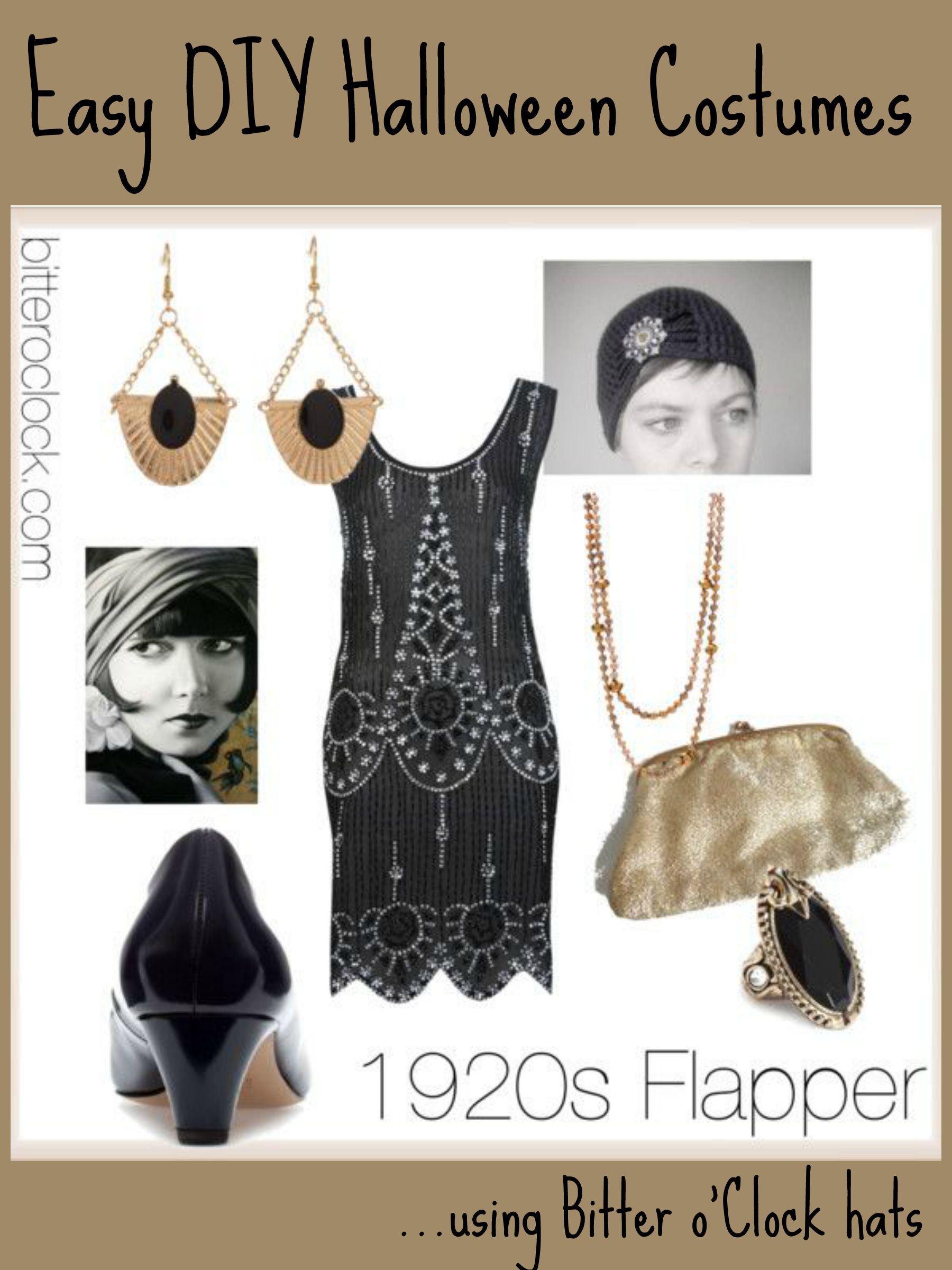 Black dress costume ideas - Diy 1920s Costume Easy Diy Halloween Costumes 1920s Flapper Bitter O