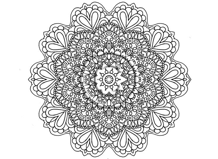 Mandala Flower Coloring Pages Coloring Pages Mandala Coloring Pages