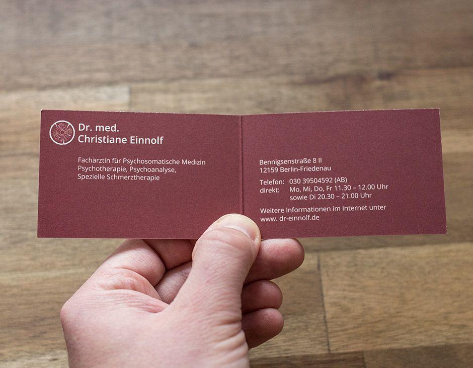 Frau Dr Med Christiane Einnolf Visitenkarte