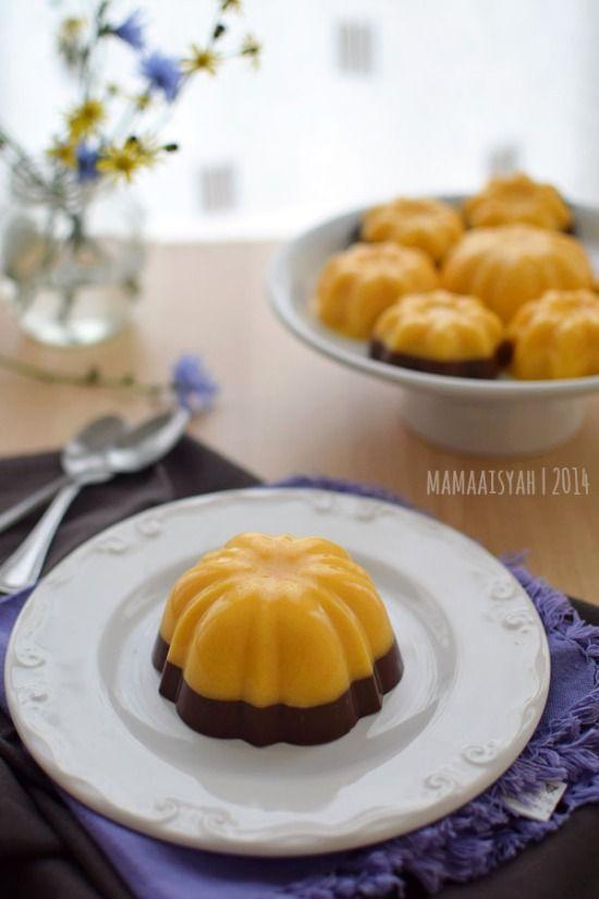 Resep Puding Labu Kuning : resep, puding, kuning, Dapur, Aisyah:, Puding, Kuning, Lapis, Coklat/Pumpkin, Pudding, Chocolate, Layer, Resep, Kuning,, Desserts,, Makanan, Minuman