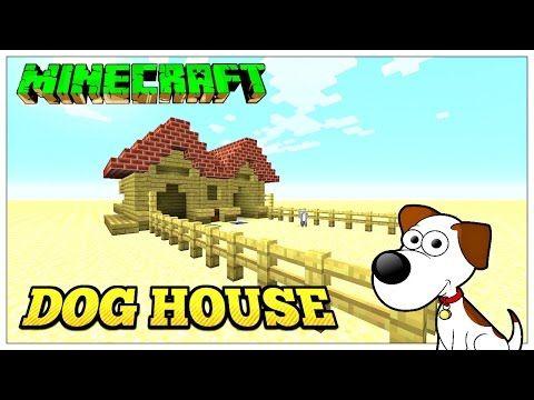 minecraft tutorial: dog house (tu33) - youtube | mine your (game
