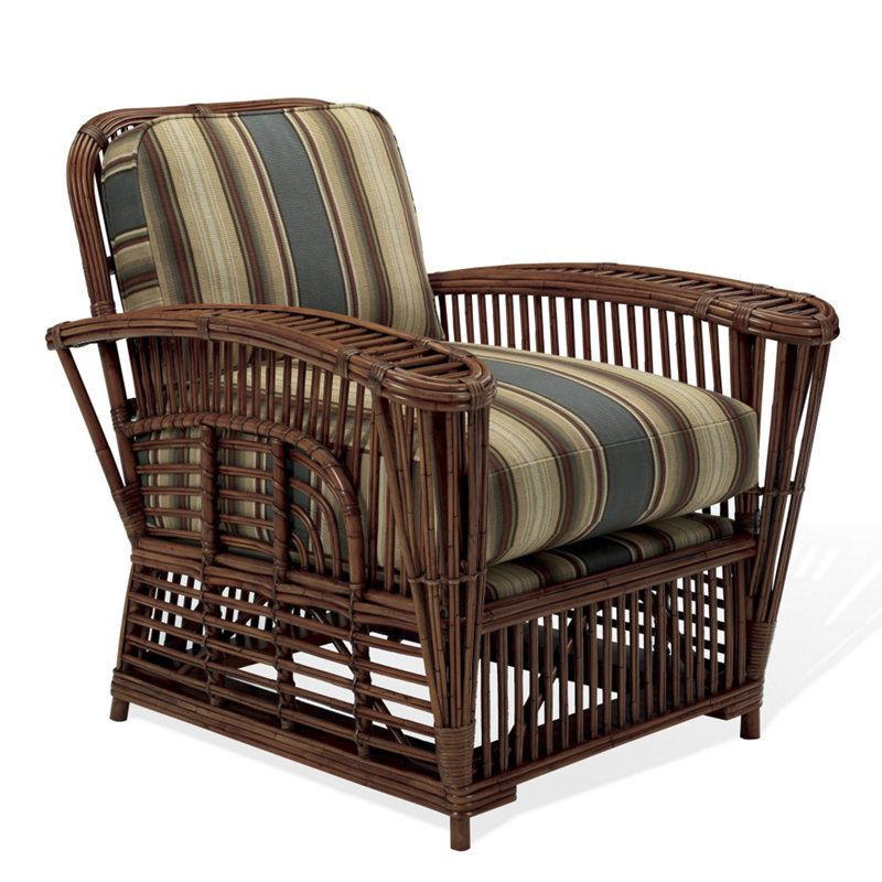 Hudson River Valley Wicker Lounge Chair - Chairs