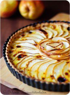 Kleiner Kuriositätenladen: Birnentarte mit Camembert