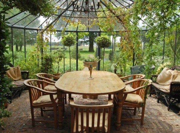 holz m bel wintergarten gestaltung ideen tipps outdoor zimmer gartenideen pinterest. Black Bedroom Furniture Sets. Home Design Ideas