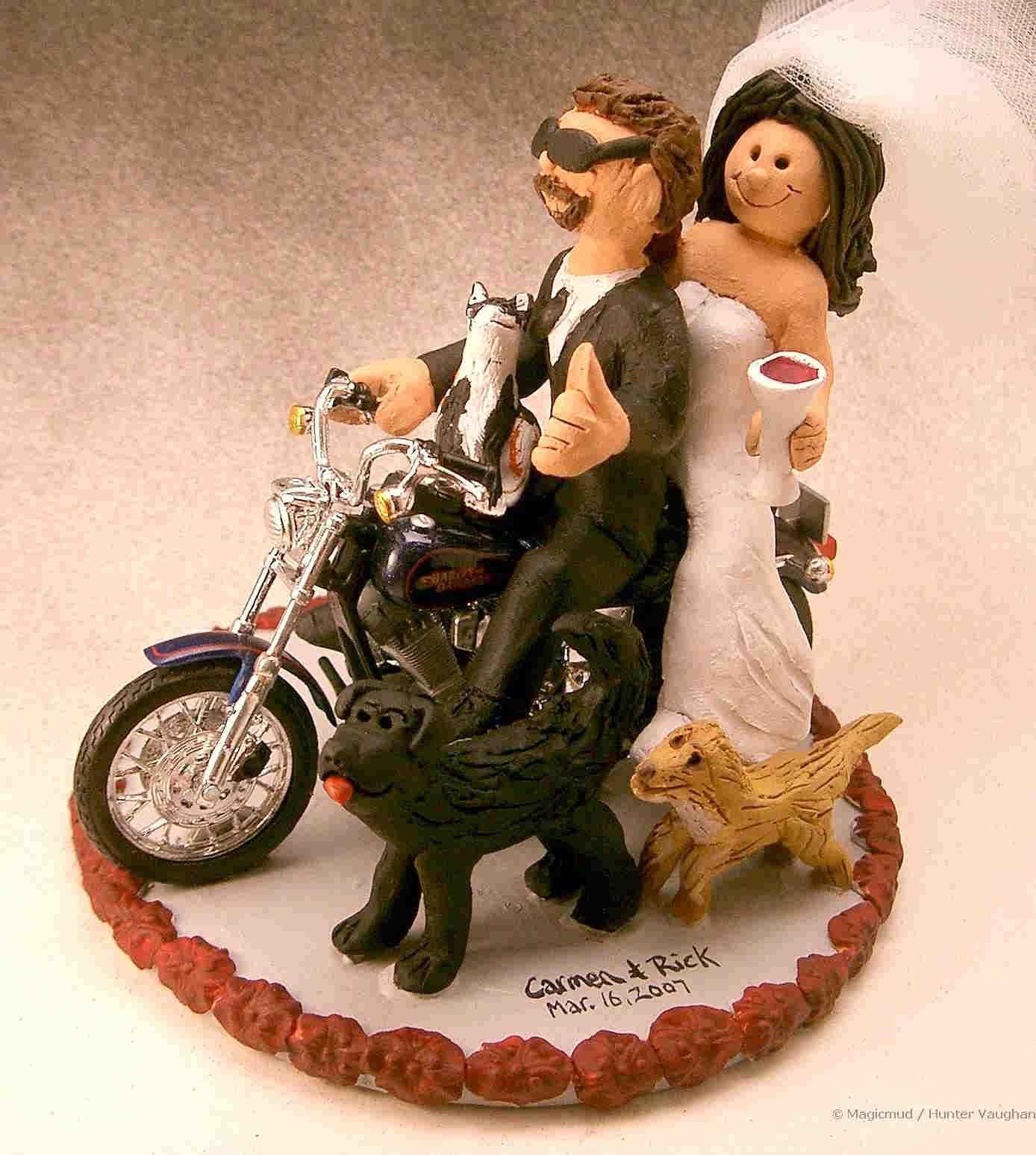 harley davidson wedding dresses Harley Davidson Wedding Cake Toppers