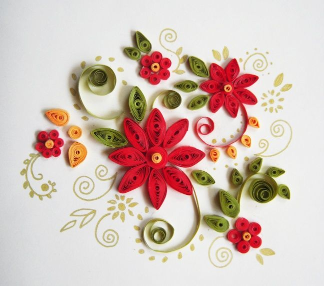 Christmas quilling patterns google search paper for Paper quilling designs