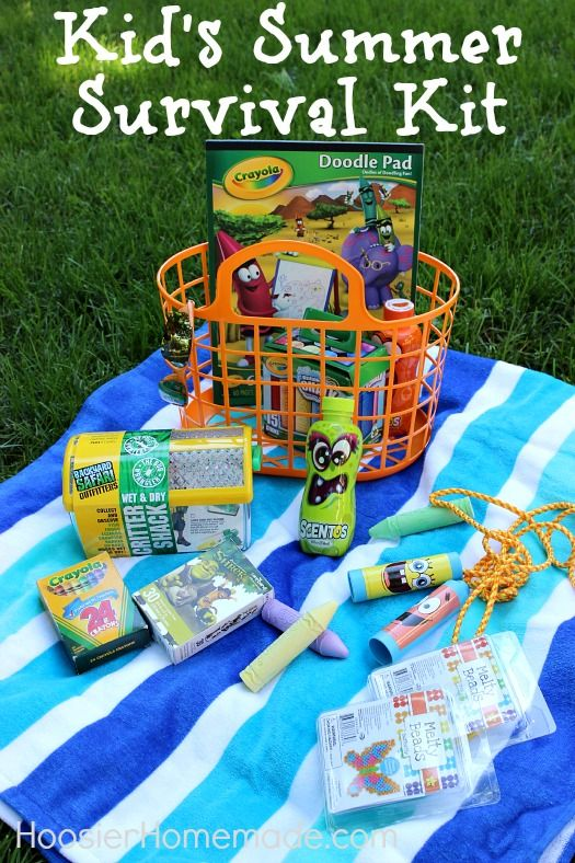 sports shoes ae69c 0982c Cute idea! Summer survival kit for kids | Kids gift baskets ...