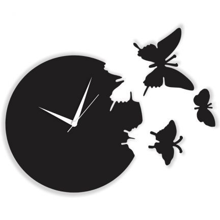 Blacksmith Butterfly Wall Clock Black,Wall Clocks