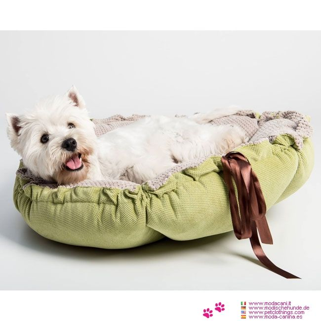 hundebett/hundekissen kalendula in grün und beige #hunde, Hause deko