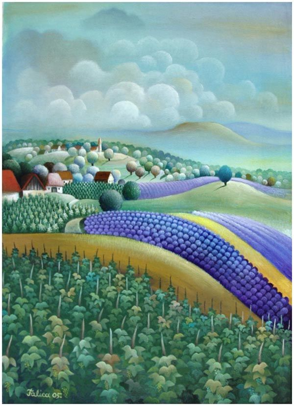Gut bekannt Josip Falica, artiste peintre contemporain croate naïf | Art  CO15