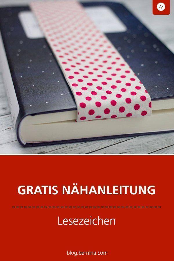 Nähanleitung: Lesezeichen aus Stoffresten – Nähen