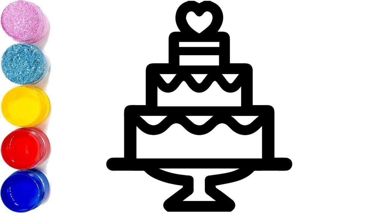 Hey Let S Draw A Happy Birthday Cake Glitter Birthday Cake