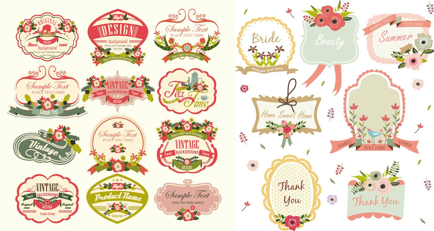 Free vintage label template downloads set of 19 cute vector free vintage label template downloads set of 19 cute vector vintage labels and frames templates decorated maxwellsz