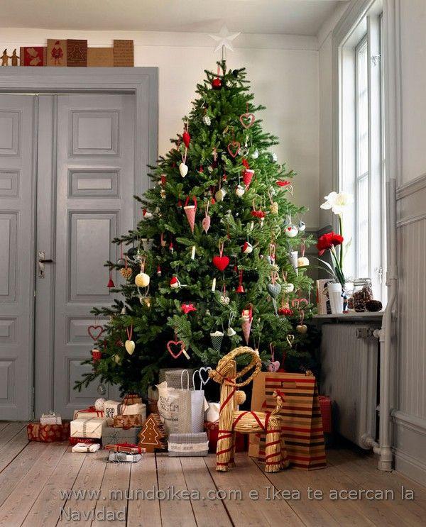 Decoracin rbol de Navidad Ikea 2012 navidad Pinterest