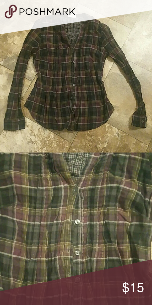 Plaid Converse Button Up Multi colored Converse plaid button up. Never been worn. Comes from a smoke free and pet free home! Converse Tops Button Down Shirts