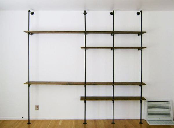 diy shelving unit by brick house future love nest. Black Bedroom Furniture Sets. Home Design Ideas