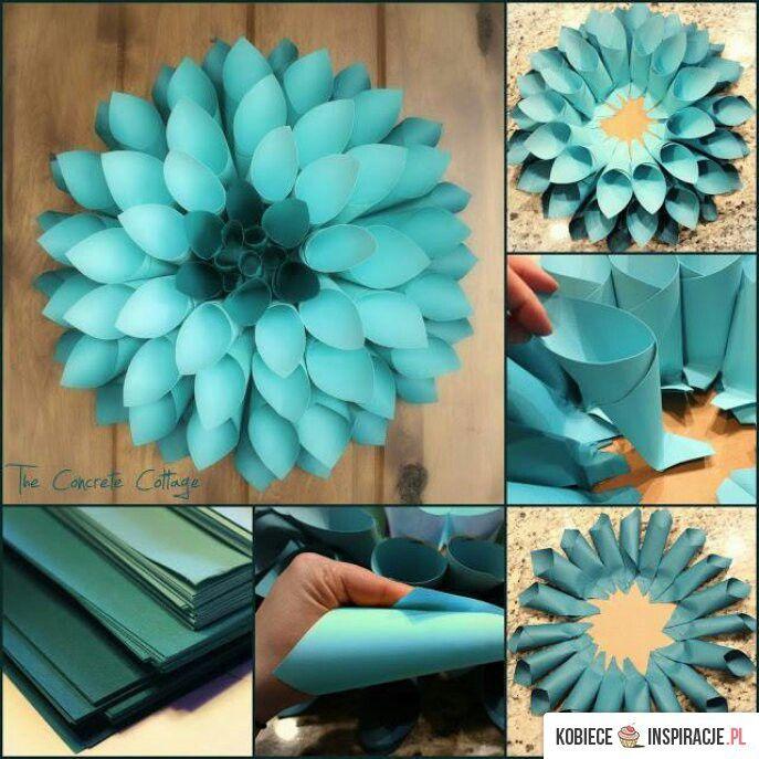 Papierblumen | Flores | Pinterest | Papierblumen, Blumen und Basteln