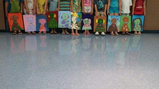 Painting class 5-9 yr olds.