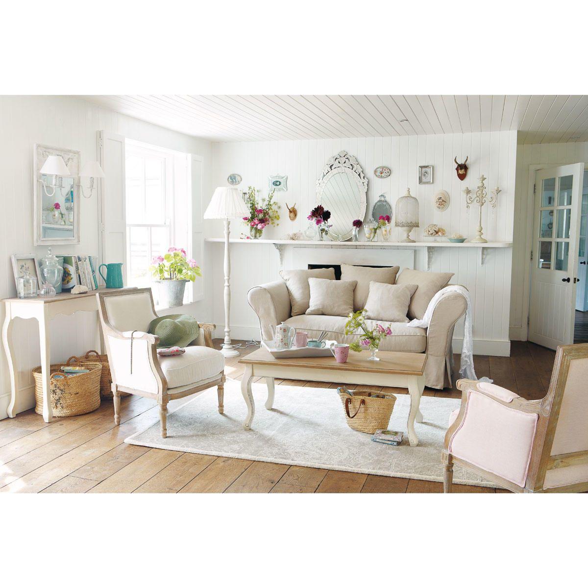 Table basse crème L110 | Table basse rectangulaire, Blanc ivoire et ...