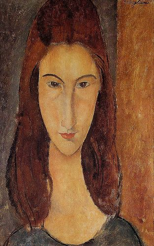 Amedeo Modigliani . The first time I saw this painting was in a house with a very old tree, and some very nice people living there .