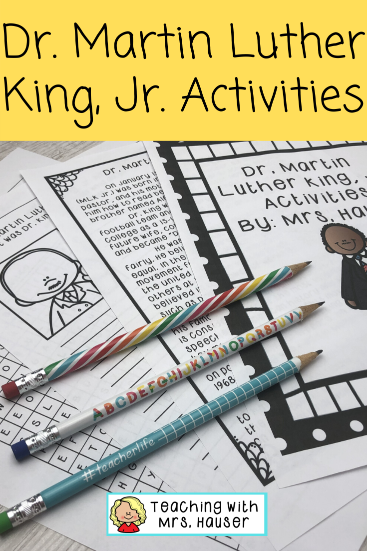 Dr Martin Luther King Jr Activities Dr Martin Luther King Jr Differentiated Reading Passages Martin Luther King [ 1102 x 735 Pixel ]