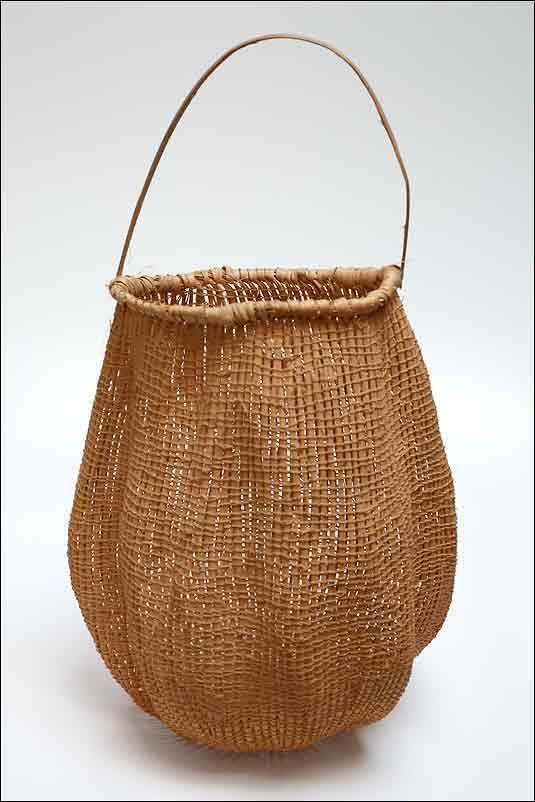 Basket Weaving Aboriginal : Painting baskets aboriginal tribal rainforest basket