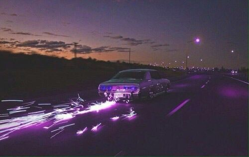Car Night And Purple Image With Images Badass Aesthetic