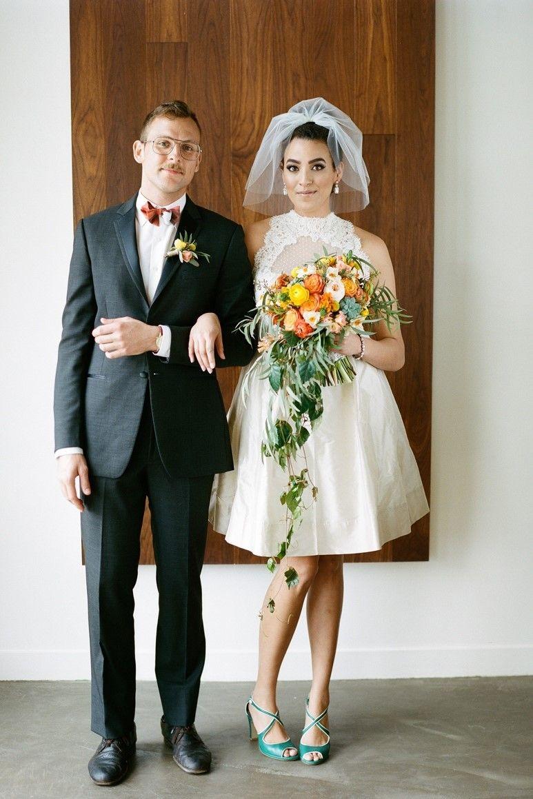 Fabulous Mid Century Wedding Inspiration Mid Century Modern Wedding Short Wedding Dress Wedding Dresses 60s [ 1159 x 773 Pixel ]