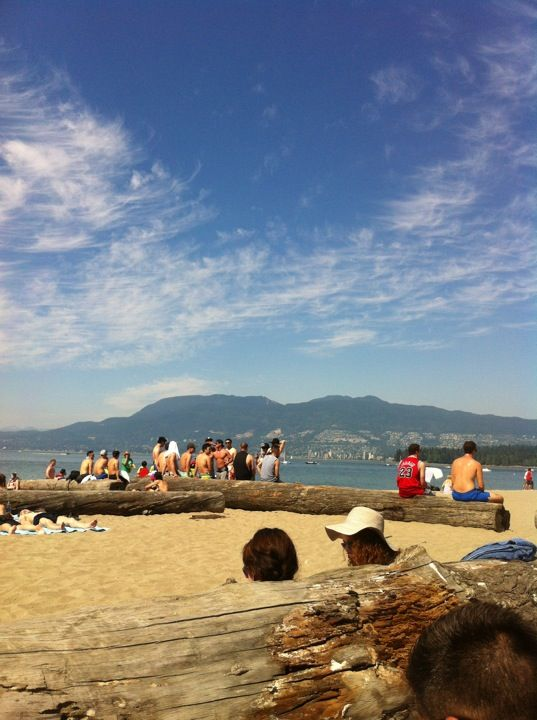 Kitsilano Beach, great starting point for a scenic walk to Granville Island! Or just to enjoy the views and the beach!