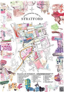Stratford Explorers - map exploring the local area where London 2012 will be held.