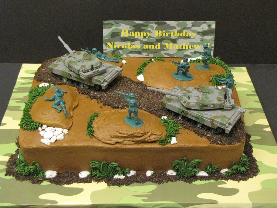 Pin By Chelsea Klump On Calebs Birthday Pinterest Army Cake