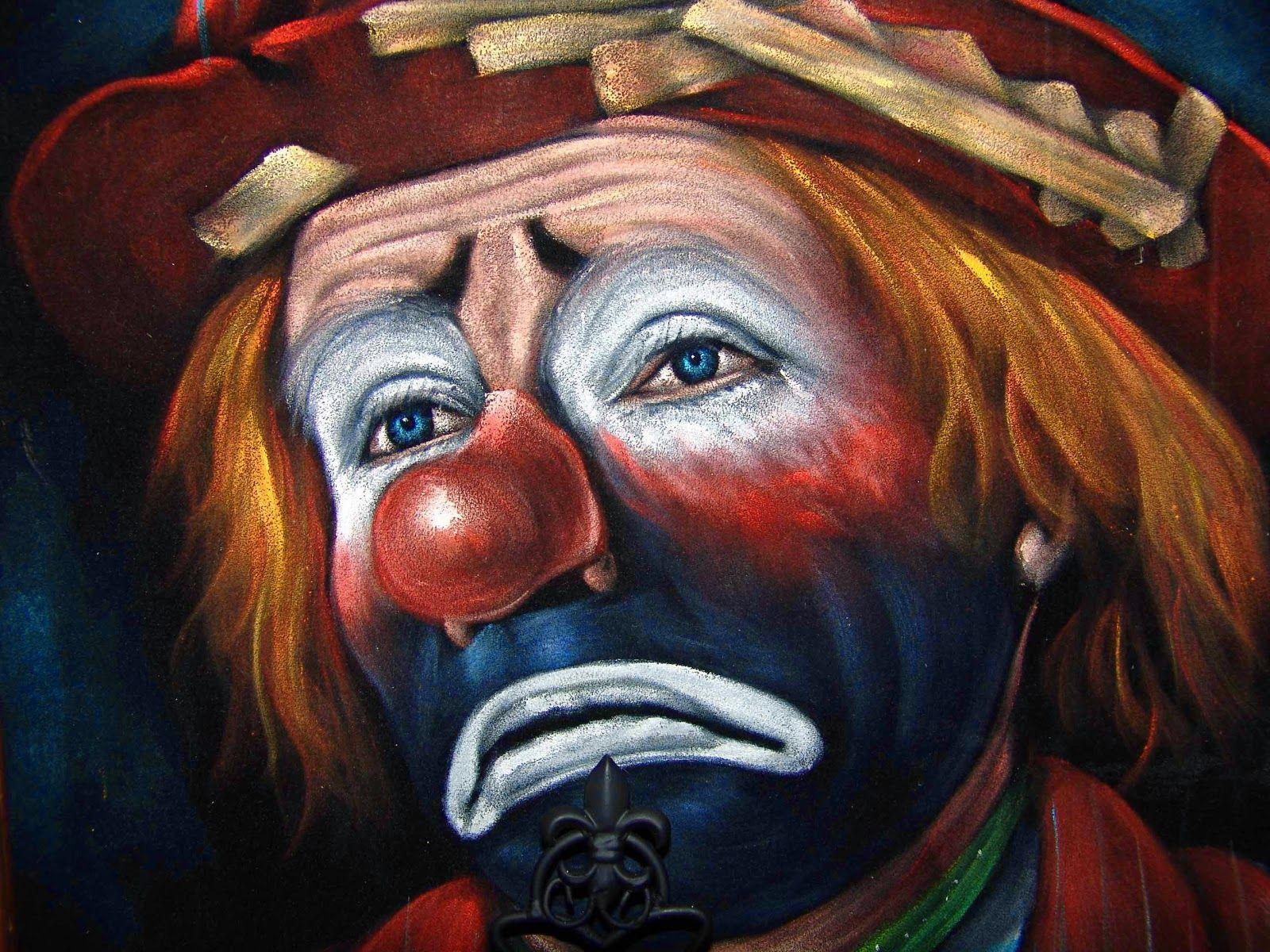 Payaso triste 1 imagen + Q 1000 palabras Pintura