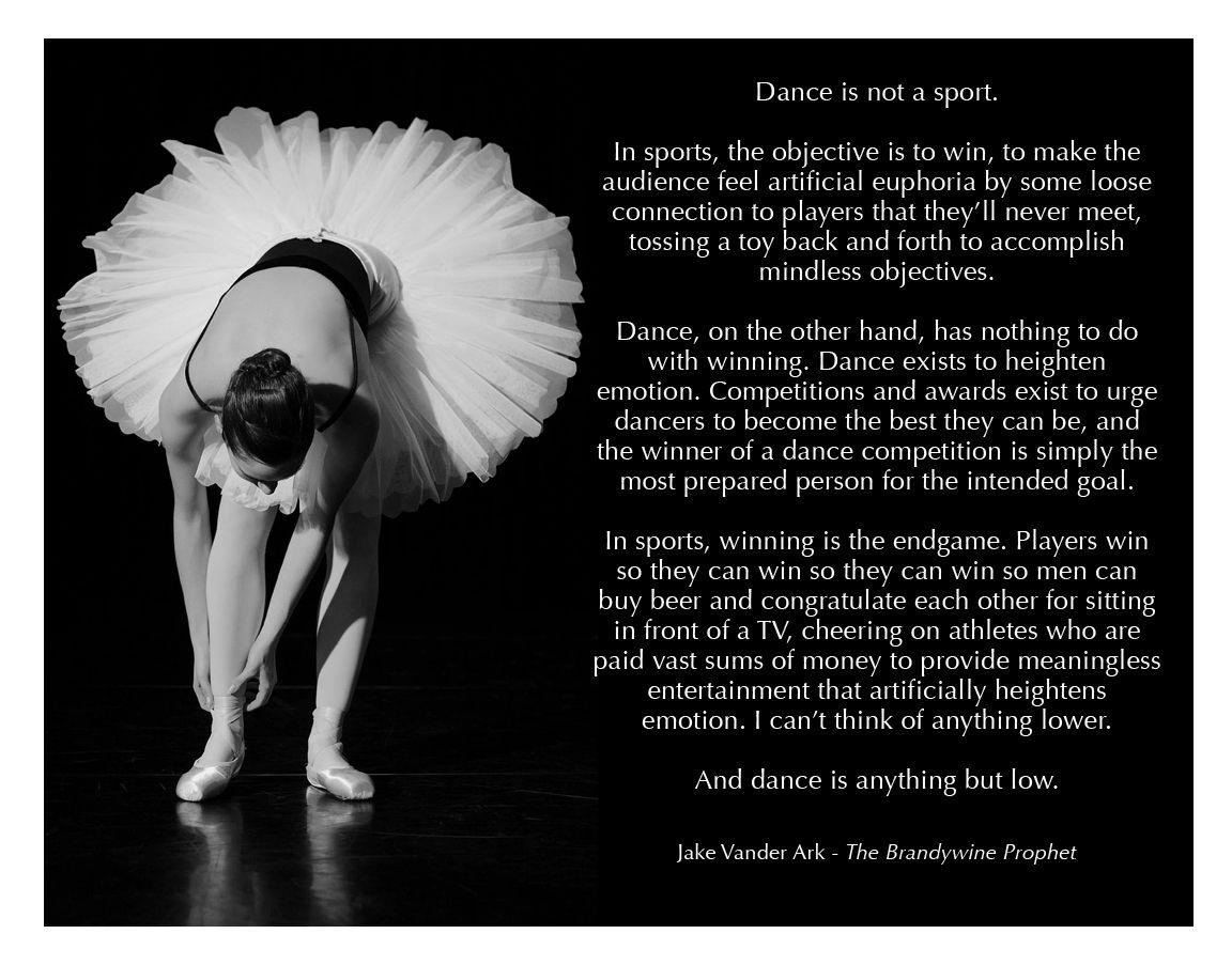 dance is not a sport