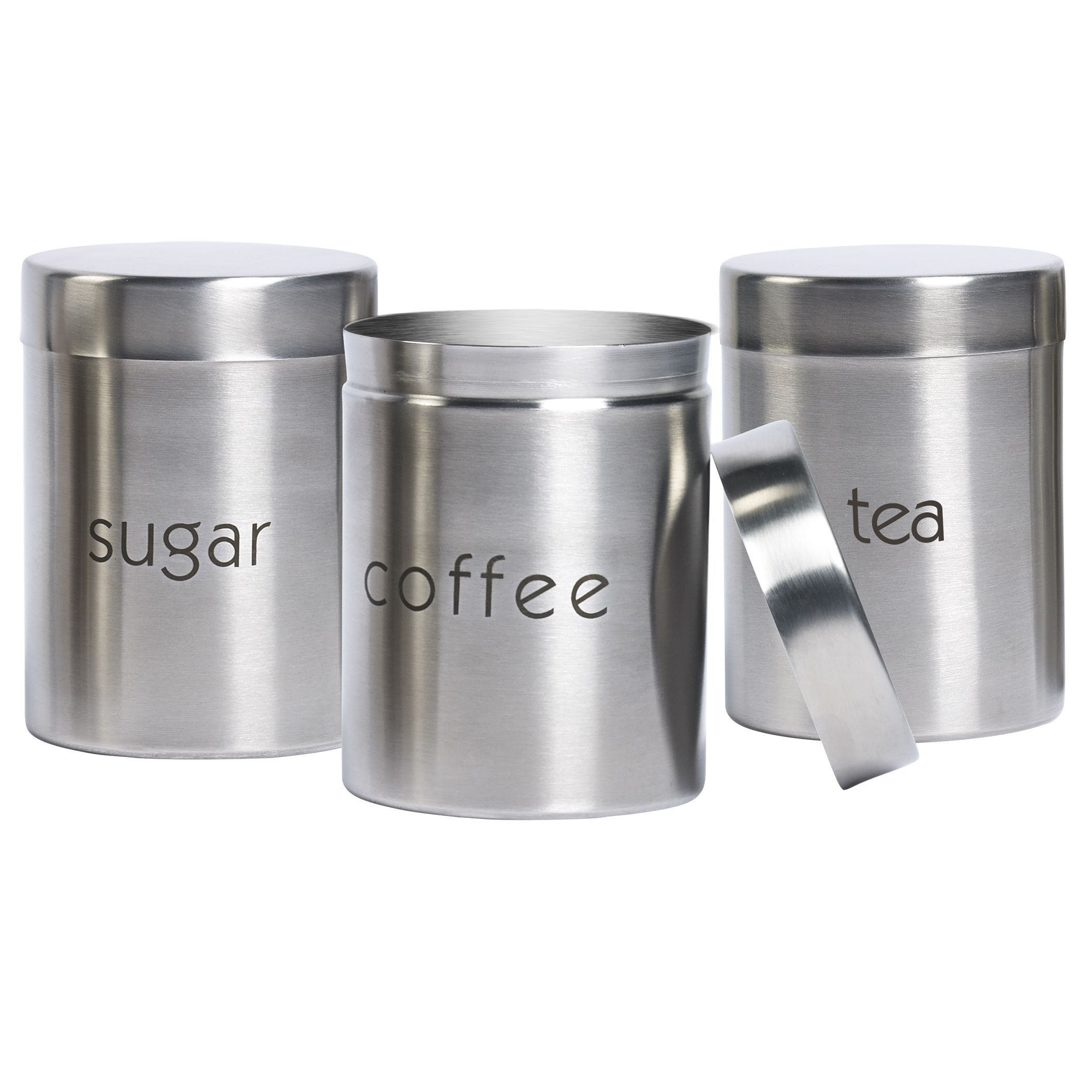 stainless steel 3 piece canister set stainless steel 3 piece rh pinterest com