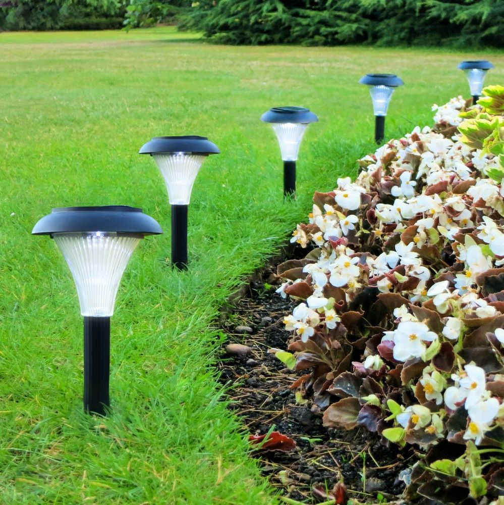 Solar Led Outdoor Light Set Of 10 Garden Lighting Path Yard Patio Lamp Decor New Garden