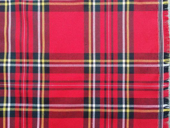 Christmas Red tartan Scottish tartan fabric by TheFabricShopUK