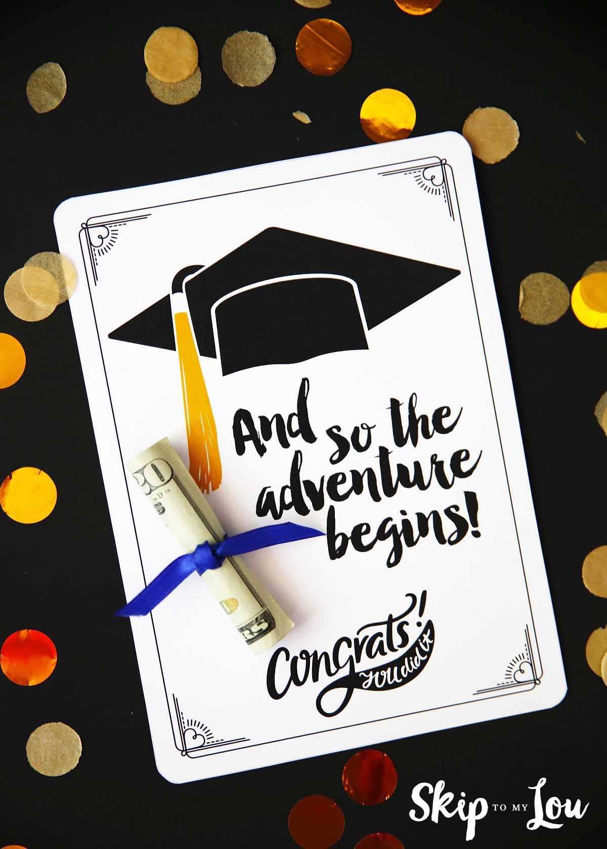 Free Graduation Cards With Positive Quotes And Cash Gift Ideas