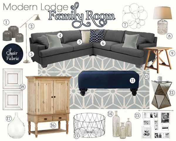 Warm And Cozy Dining Room Moodboard: Modern Lodge Living Room
