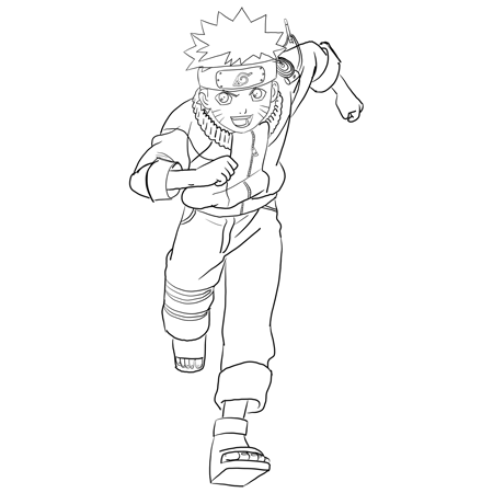 How to Draw Naruto Uzumaki with Easy Step by Step Drawing ...