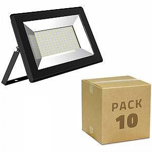 Pack Projecteur LED Solid 10W (10un) Blanc Chaud 3000K LEDKIA Luminaire  Eclairage d'extérieur  Projecteur d'extérieur  Projecteur seul LEDKIA, Le Projecteur LED Solid 10W se distingue par son design compact et son design minimaliste. Caractéristique du Projecteur LED Solid 10W Parfait pour le remplacement de projecteur halogène jusqu'à 50W, avec lui, vous