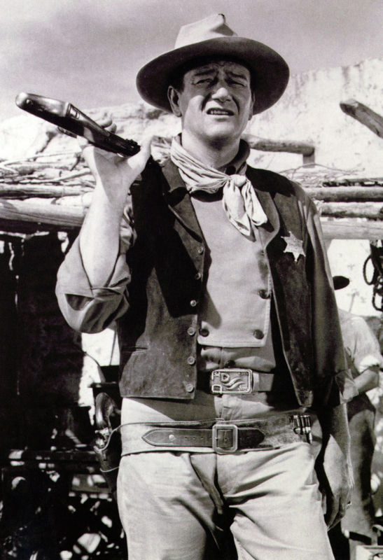 THE DUKE WESTERN Gun Cowboy JOHN WAYNE POSTER