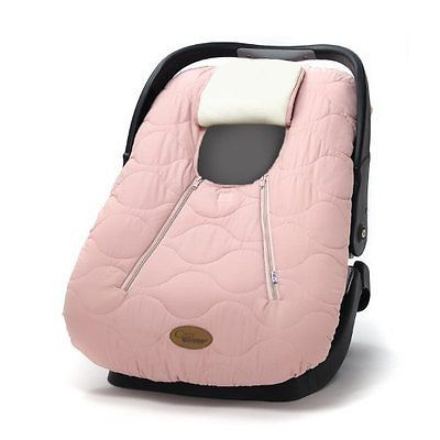 Baby Car Seat Cover Pink Warm Infant Cold Winter Fall Carrier ...