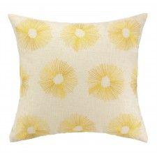 DL Rhein Etoile Embroidered Pillow, Lemon