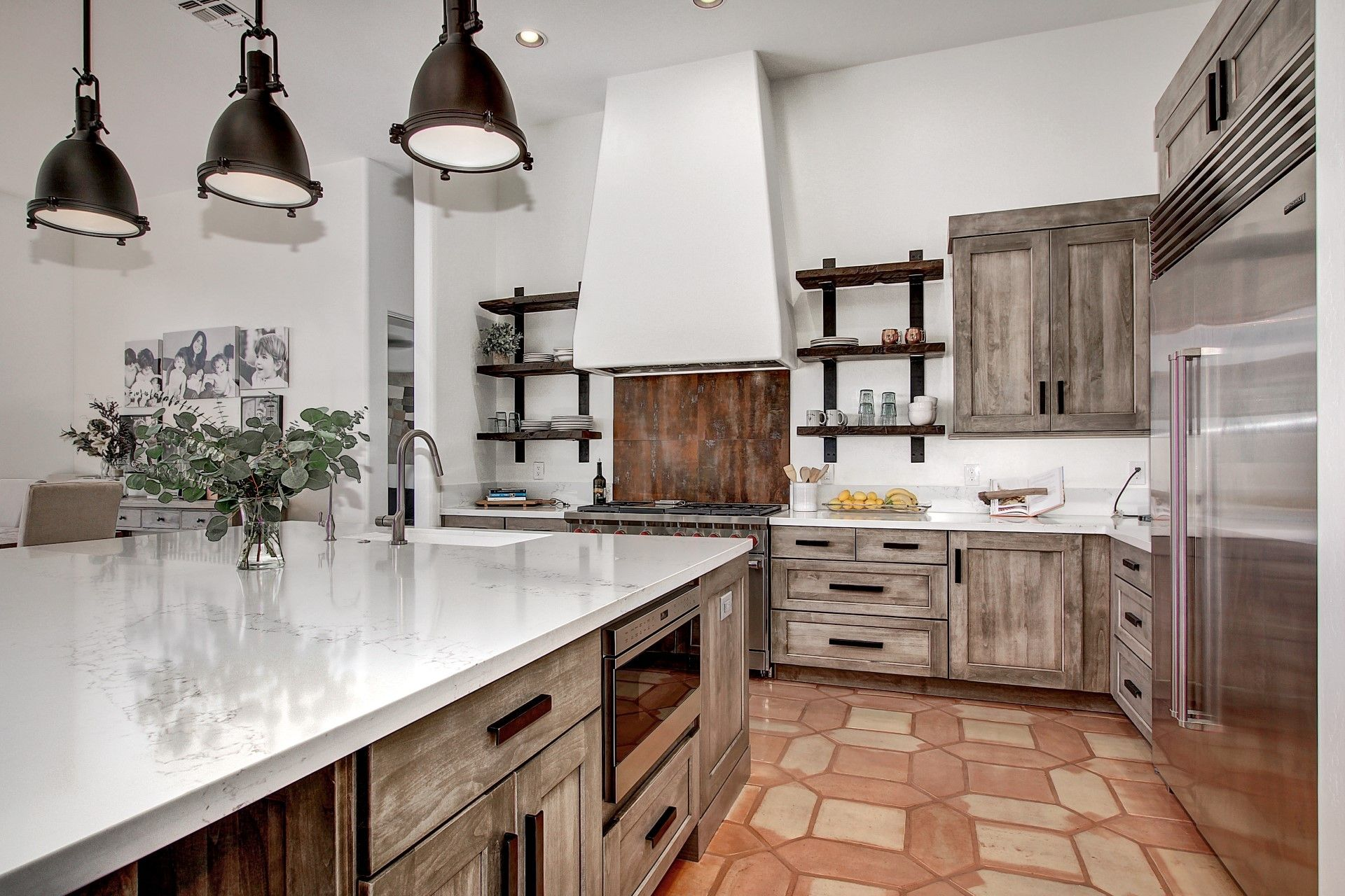 Beautiful Weathered Grey Industrial Southwestern Styled Kitchen This Was A