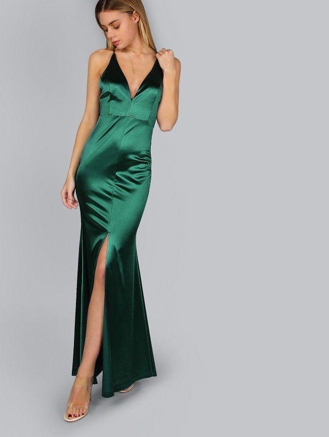 Abendkleid grun seide