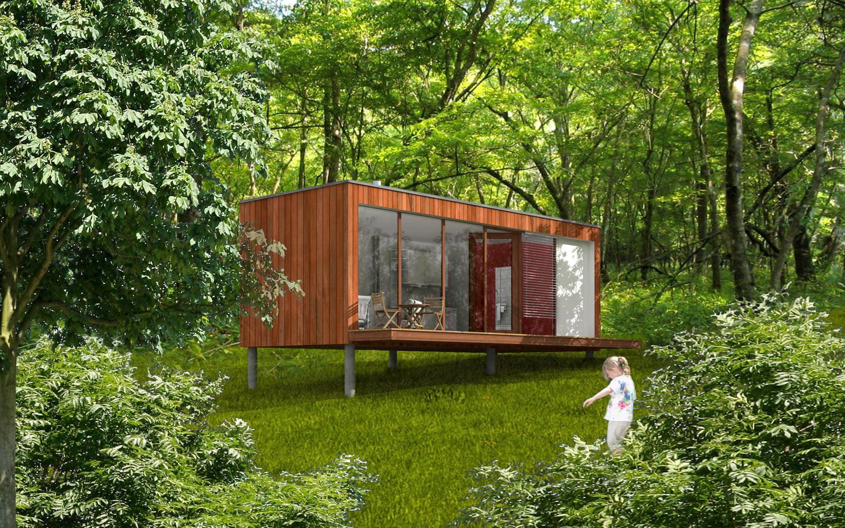 Micro maison pr fabriqu e modulaire contemporaine for Autoconstruction maison container