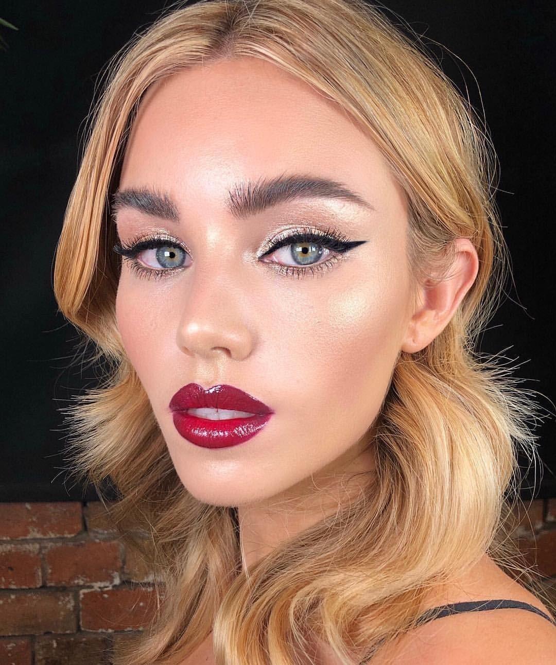 Pin on bold makeup