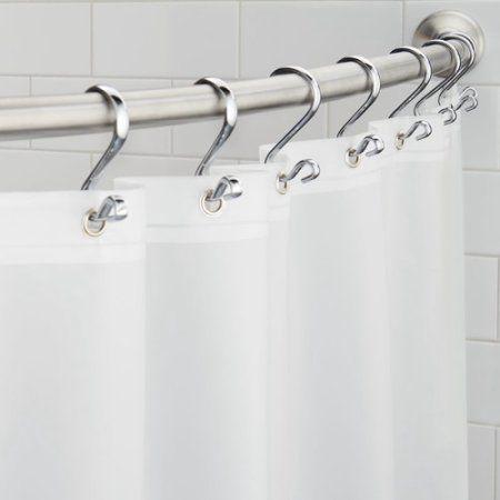 Interdesign Peva 4 8 Shower Curtain Liner Frost White Shower