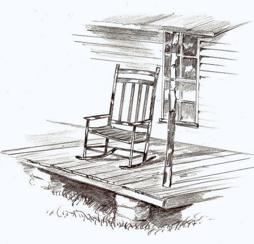 Front Porch Clipart clipart of porches | old rocking chair on front porch front
